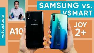 So sánh chi tiết Samsung Galaxy A10s và Vsmart Joy 2+