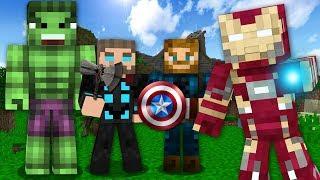 Minecraft: COMO VIRAR OS HERÓIS DE VINGADORES ULTIMATO NO MINECRAFT!