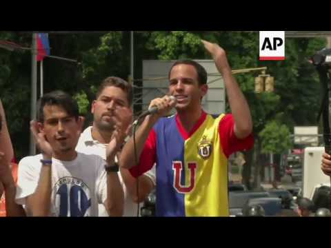 Students protest Maduro presidency in Caracas