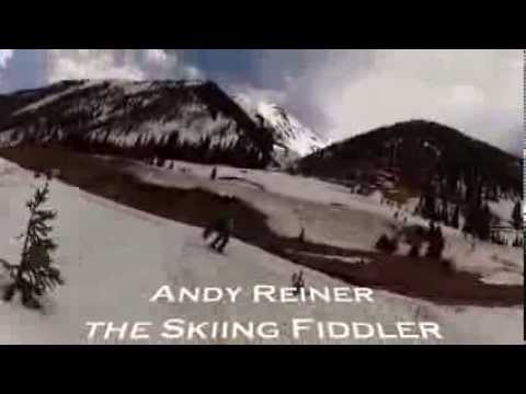 Playing Fiddle while Skiing - top to bottom at Silverton Mountain, CO