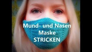 Mund- und Nasen-Maske, Behelfsmundschutz stricken- Kreativ mit täschwerk