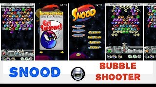 Snood (mobile bubble shooter game) JUST GAMEPLAY
