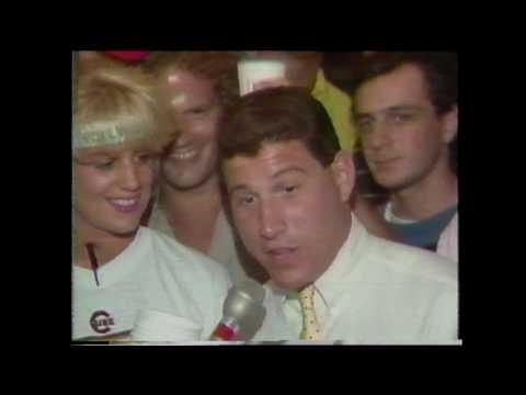 Philadelphia Phillies vs. Chicago Cubs - Wrigley First Night Game Rain Delay - WGN 8/8/1988