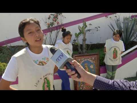 Peregrinos guadalupanos llegan desde Chiapas a la Basílica de Xalapa