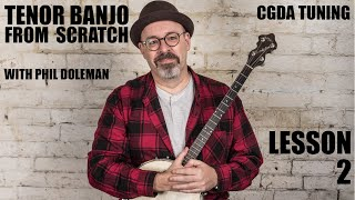 Tenor Banjo and tenor guitar From Scratch   Lesson 2