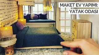 Evdeki Malzemelerle Maket Ev Yapımı | Yatak Odası