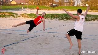 Beach handball: Banen og udskiftning