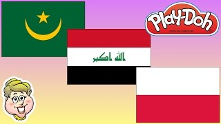 Play-Doh Flags! Mauritania, Iraq, and Poland!  EWMJ #272