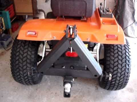 Ariens Tractor Hitch Cat 0 3 pt home made rear hitch YouTube