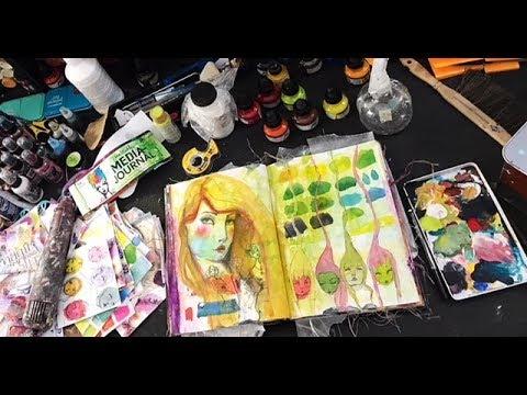 Hobby Lobby Haul and Dina Wakley Art Journal Play Pt1