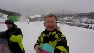 Горнолыжный комплекс Губаха Февраль 2020 День 2 Сноуборд Трассы таёжная и другие