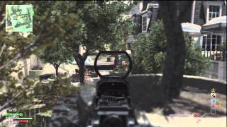 MW3: M4A1 M.O.A.B With Throwing Knife Final Killcam!!