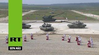 El biatlón de tanques abre los Juegos Internacionales de Ejércitos en Rusia