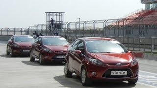2012 Ford Fiesta PowerShift Automatic F1 Track Test Drive Review