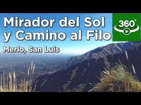 Mirador del Sol y Camino Al Filo, Merlo, San Luis - 360 - Ruta0.com