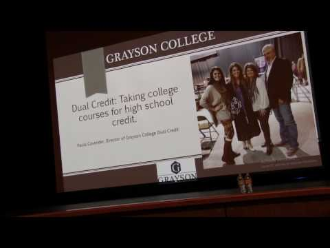 Grayson County College Dual Credit Meeting