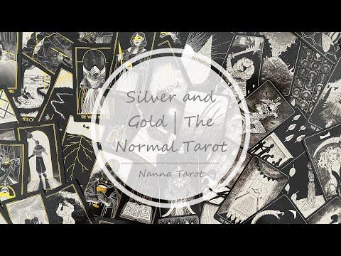 開箱  典型塔羅牌-金銀雙色版 • The Normal Tarot // Nanna Tarot