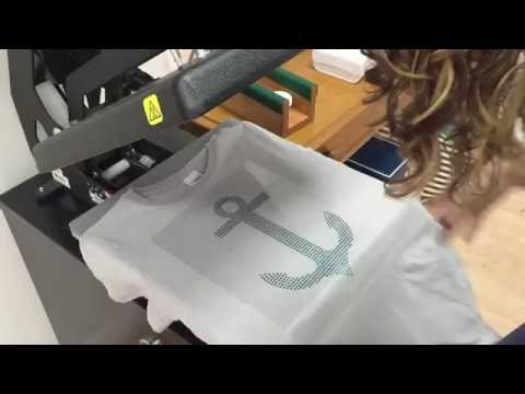 Design, Cut and Press a Rhinestone Shirt with the Silhouette Cameo 3!