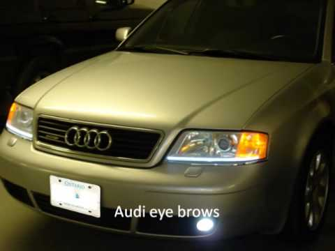 Ccfl halo angel eyes led strips drl in toronto youtube mozeypictures