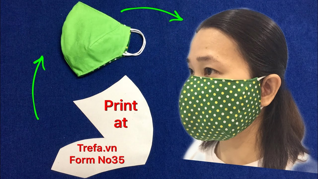 2 SIDES MASK suitable for all MAN and WOMEN with the SAME SIZE/full cover face/tutorial simple