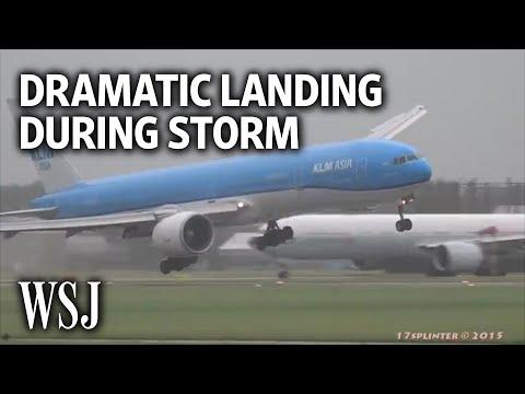 Dramatic Video Shows Plane Landing During Violent Storm