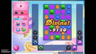 Candy Crush Level 1611 Audio Talkthrough, 3 Stars 0 Boosters