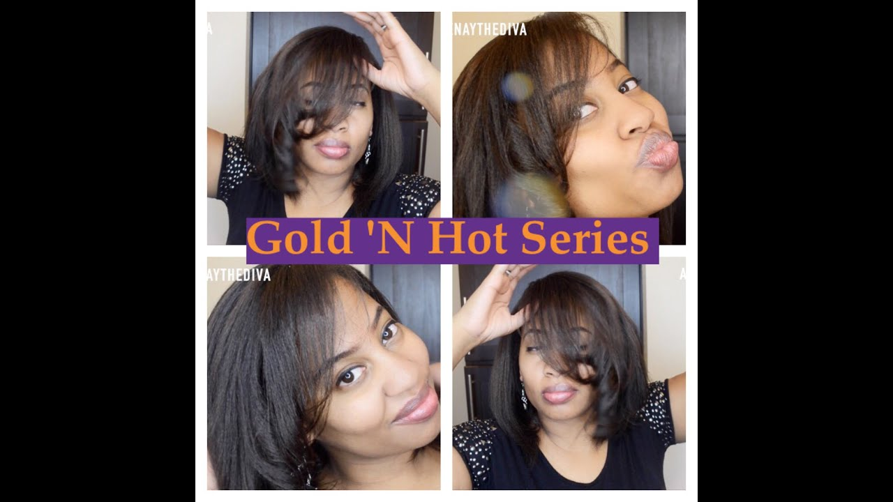 Gold N Hot Series Anium 1 Professional Straightening Iron You