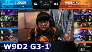 cloud 9 vs phoenix1 game 1   s7 na lcs spring 2017 week 9 day 2   c9 vs p1 g1 w9d2