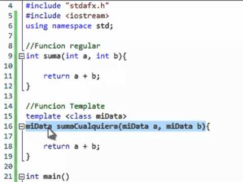 C function templates tutorial espa ol youtube for What is the purpose of a template