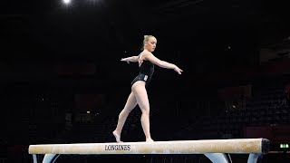 Sanne Wevers (NED) BB - 2019 World Championships -  Podium Training