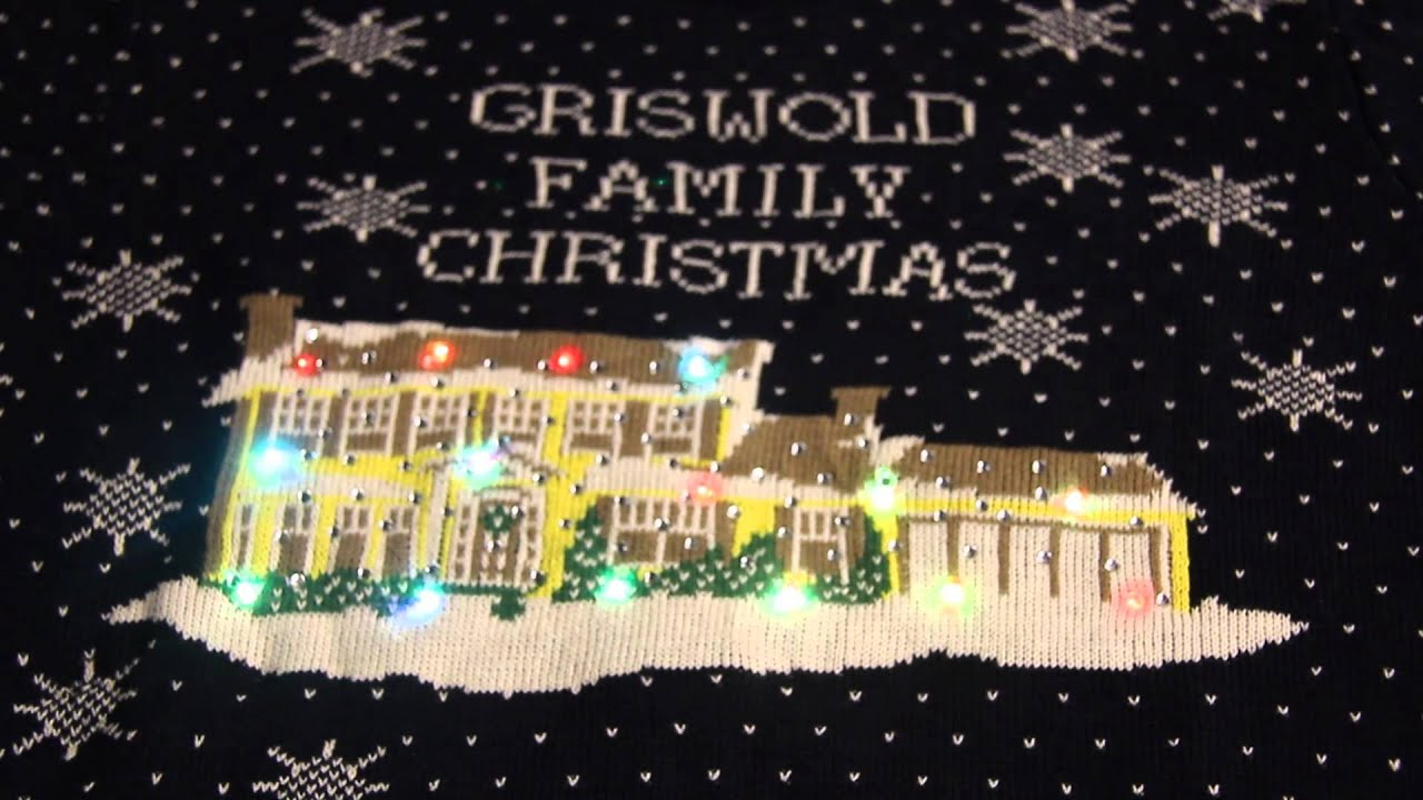 griswold family christmas light up ugly sweater - Griswold Ugly Christmas Sweater
