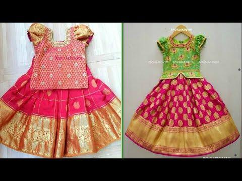 Pattu Langa Blouse Designs For Kids
