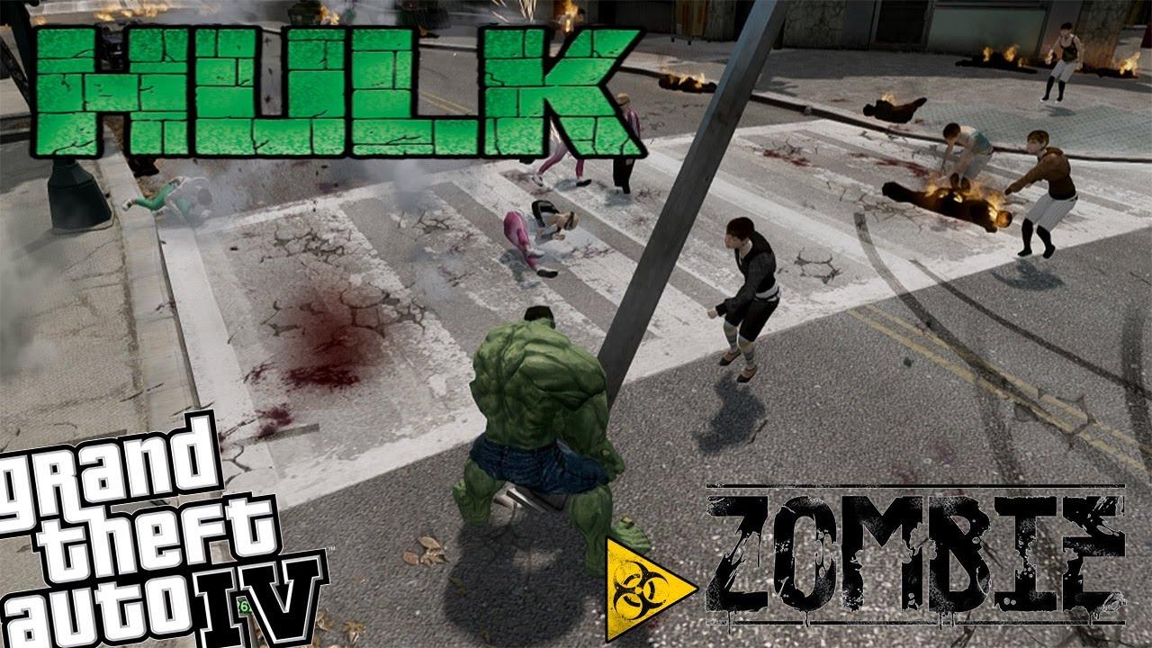 GTA IV Zombie Apocalypse Mod - Episode 8 - Hulk vs Zombie