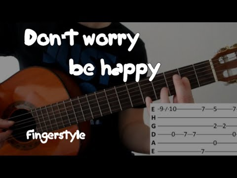 Как играть песню Don't worry, be happy (Не парься, будь счастлив) на гитаре!