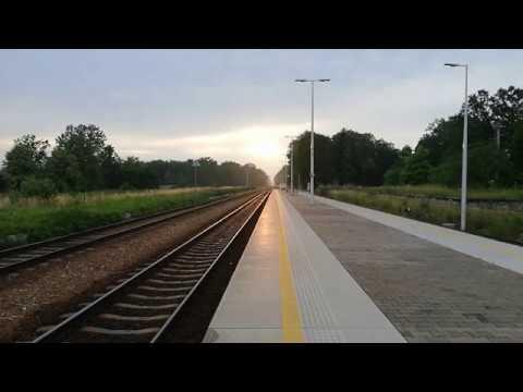 SU160-008 TLK Kiev Express z Zachodem Słońca