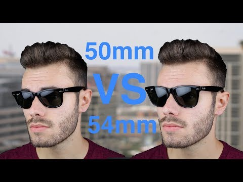 Ray-Ban Wayfarer 50mm vs 54mm Size Comparison
