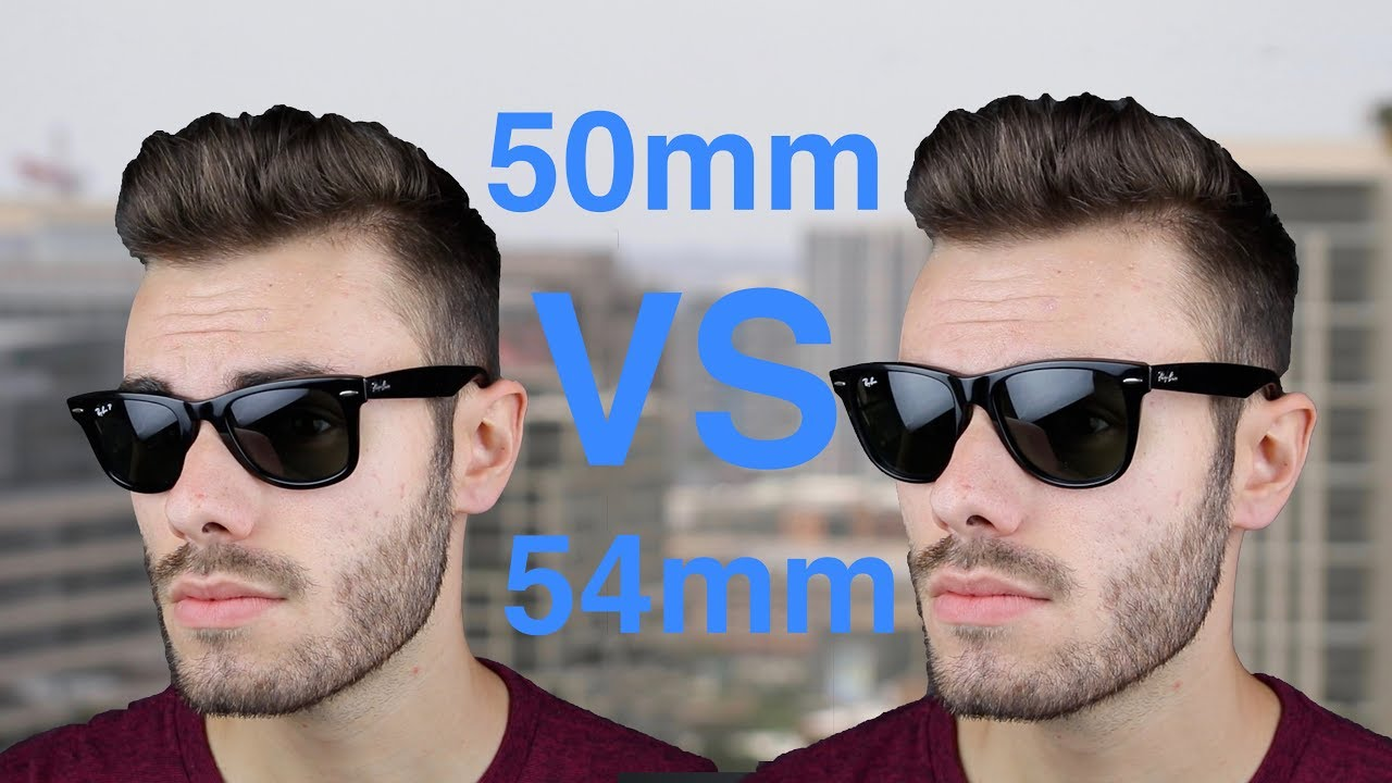 3fcc272e13802 Ray-Ban Wayfarer 50mm vs 54mm Size Comparison - YouTube