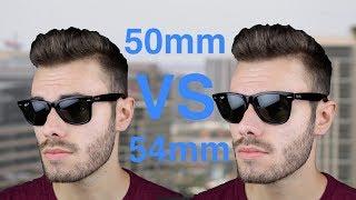 Ray-Ban Wayfarer 50mm vs 54mm Size Comparison