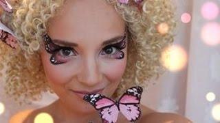 Pink Butterfly Makeup tutorial ( + DIY butterfly head piece) Miss Make Over