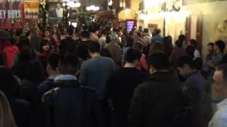 line at the paris las vegas buffet on christmas