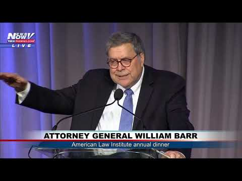 AG WILLIAM BARR: Speaking at the American Law Institute's annual dinner
