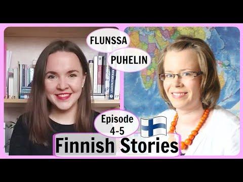 Finnish stories with subtitles. Episode 4-5. 🇫🇮 Arjen Aakkoset. Flunssa. Puhelin.