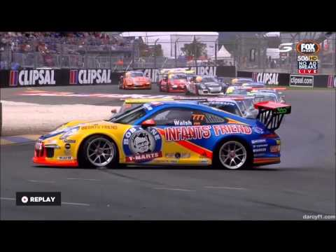 Clipsal 500 Adelaide 2016 Crash compilation