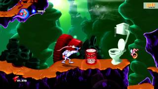 EARTHWORM JIM HD / XBOX 360 / Gameplay / Обзор игры / HD 1080