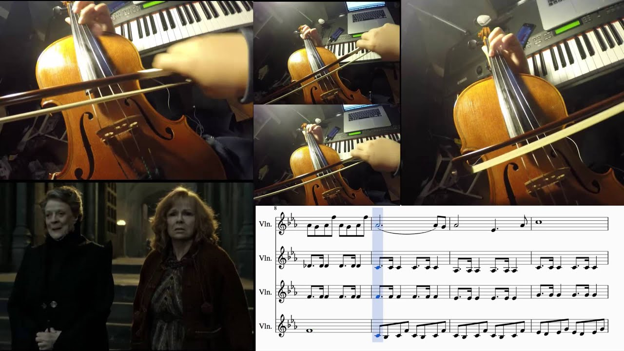 maxresdefault harry potter statues violin cover w sheet music youtube