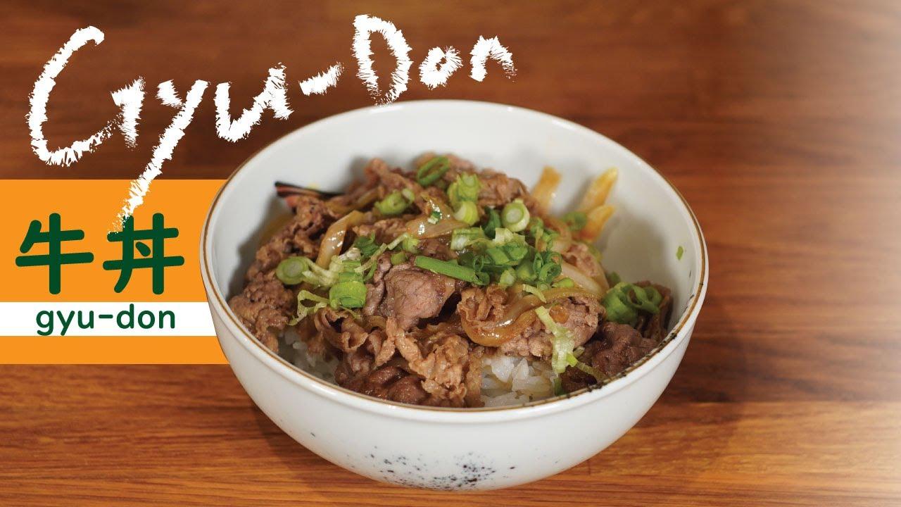 Gyu Don Usa Version Of Japanese Beef Bowl Youtube