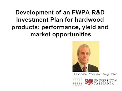 Development of an R&D investment plan for hardwood products