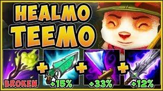 WTF! UNLOCK INFINITE HEALING WITH HEALMO TEEMO! HEALMO TEEMO SEASON 9 TOP GAMEPLAY League of Legends