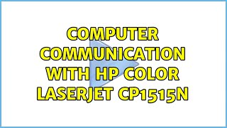 Computer Communication with HP…