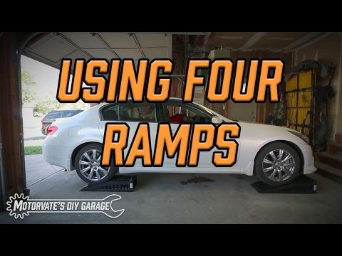 Using Four Ramps: G37 - Motorvate's DIY Garage Ep. 15
